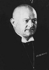 Ludwig Müller , a candidate of Hitler, was elected to the position of Reich Bishop in 1933 as Hitler attempted to unite regional Protestant churches under Nazi control. Hitler did not practice separation of Church & State.  Although Hitler had problems with the Catholic Church and eventually wanted to replace Catholicism with his brand of Christianity, the very fact that Hitler wanted a united German Church proves that he supported Christianity. The Jews Didn't like this fact either; they obviously still don't.  Berlin, Germany, November 17, 1933.  (Source:  USHMM )
