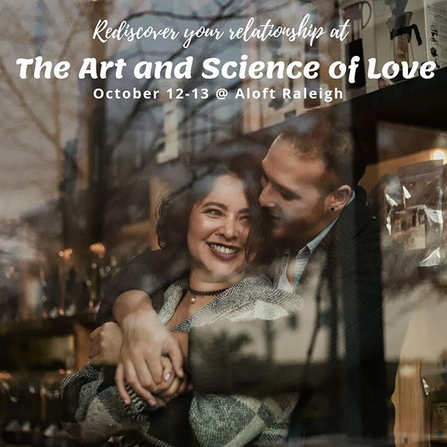 !! Calling all couples !! We will be hosting a two-day workshop for couples to reconnect again through engaging presentations, experiential activities, and research-based skills! We welcome every couple, married or not, to join us at Aloft Raleigh on October 12-13. Walk away feeling like 'we can do this' again, as well as a box set of cards, tools, and tips, for strength and support in every day life. Buy tickets today at https://buff.ly/2ZT9hBO only a few seats are left!!!