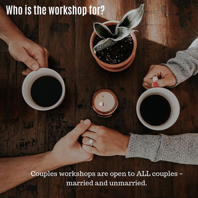 """We are frequently asked, """"who is allowed to attend the couples workshop?"""" The answer is simple: ALL COUPLES! All you need is a level of commitment and a desire to grow closer....the rest we will take care of! Sign up now as spots are filling up soon -- www.couplesworkshopnc.com"""