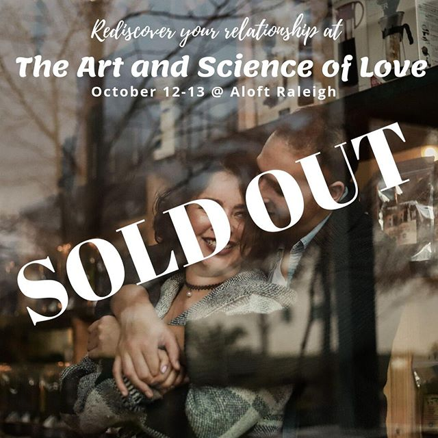 We are officially SOLD OUT of all of the tickets for The Art and Science of Love workshop! This weekend is coming up quickly and we are so looking forward to it! Disappointed you missed out? We will be having another opportunity for this workshop on February 15-16. Mark your calendars and stay tuned for more info!