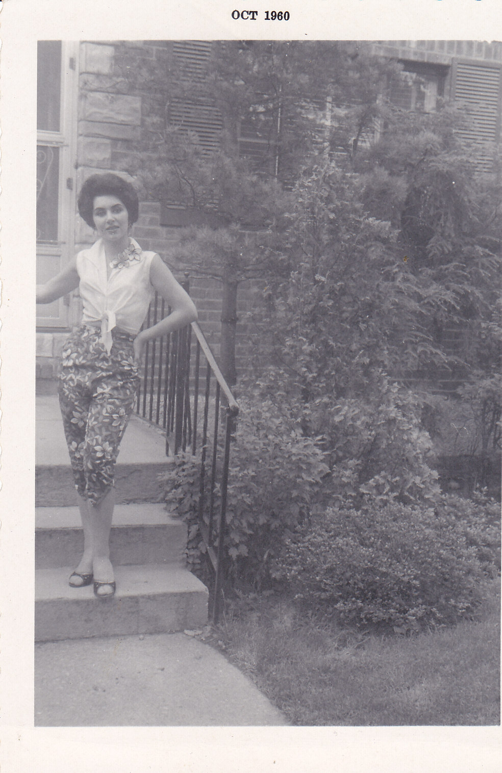 Relaxing in front of home - Jamaica , Queens. - 1957