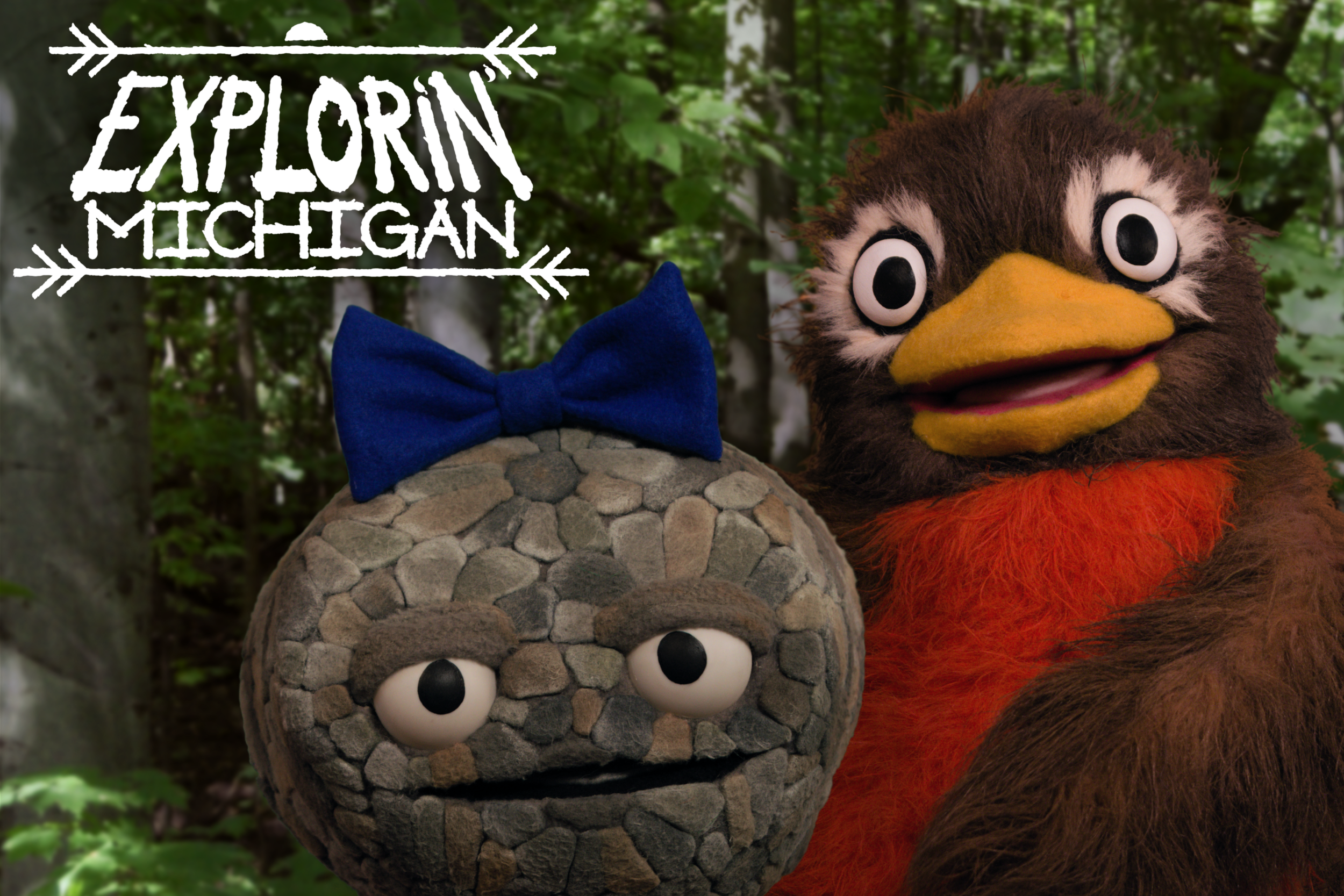 Meet Pebbleena Petoskey Stone and Rusty Robin in   Explorin' Michigan  !