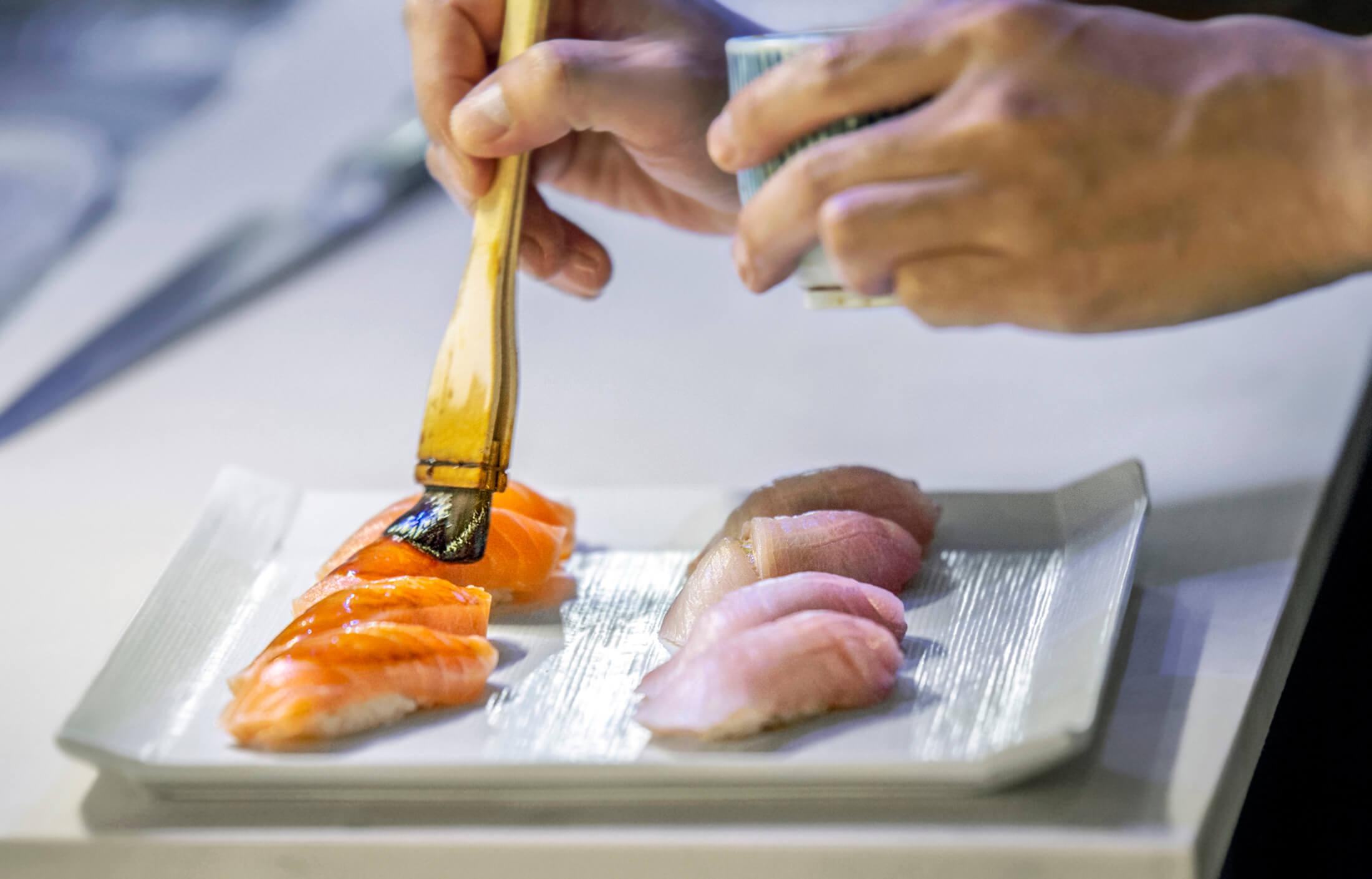 Mrs. Fish Sushi Art Whisky DTLA