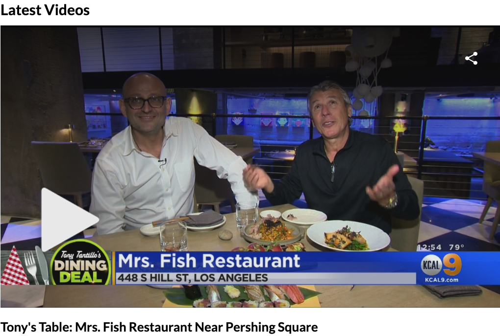 KCAL Tony's Table: Mrs. Fish Restaurant with Top Chef Alex Reznik -
