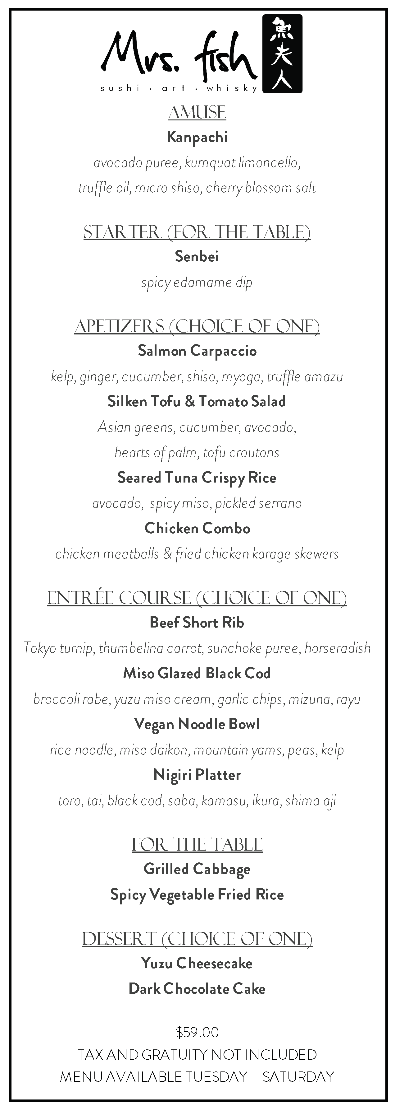Mrs. Fish Menu April 2019 Prix Fixe.png