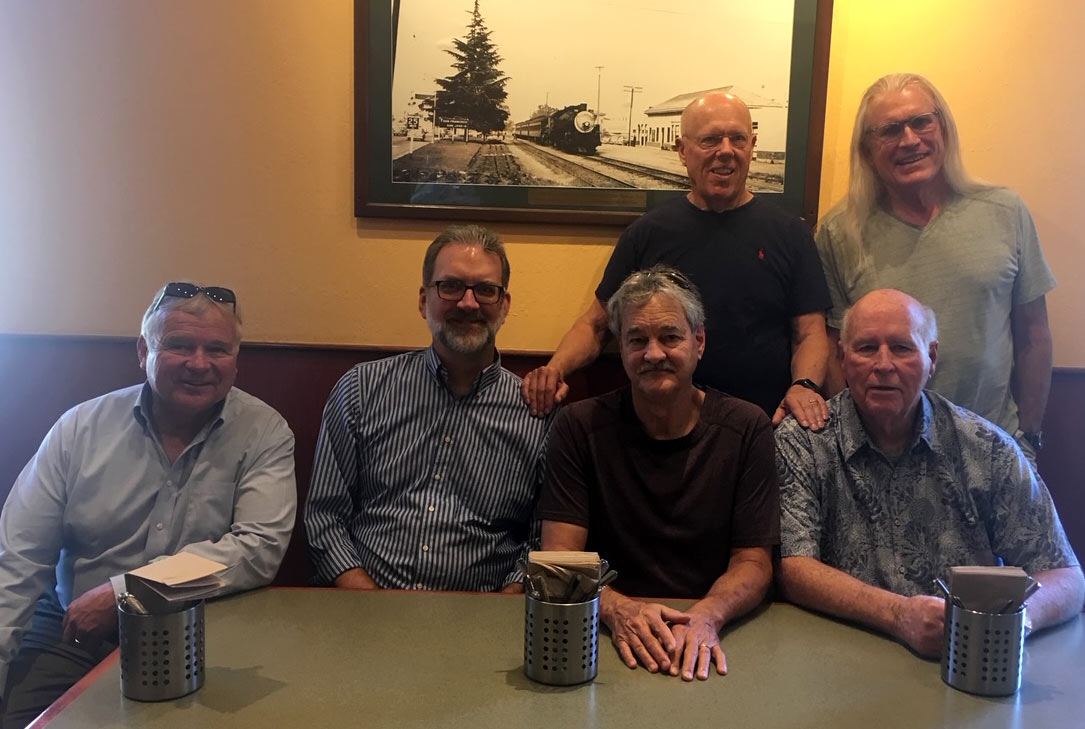 Weekly Friday coffee meeting.