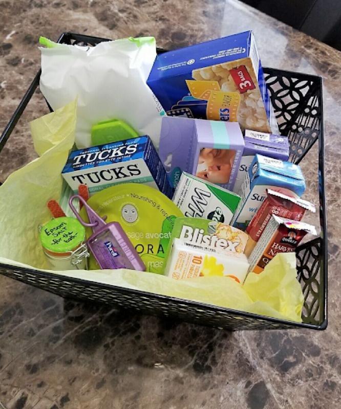 Postpartum Care Basket