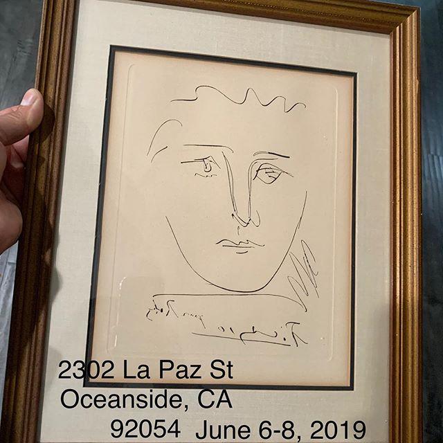 Pablo Picasso Etching #pablopicasso #art #sandiego #oceanside #estatesale #estatesalefinds