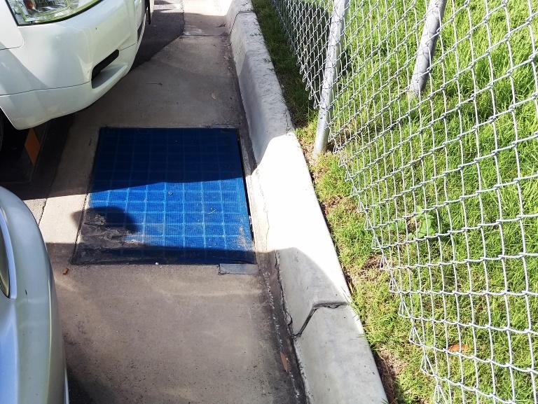 Sedimination control on carpark stormwater drain.jpg