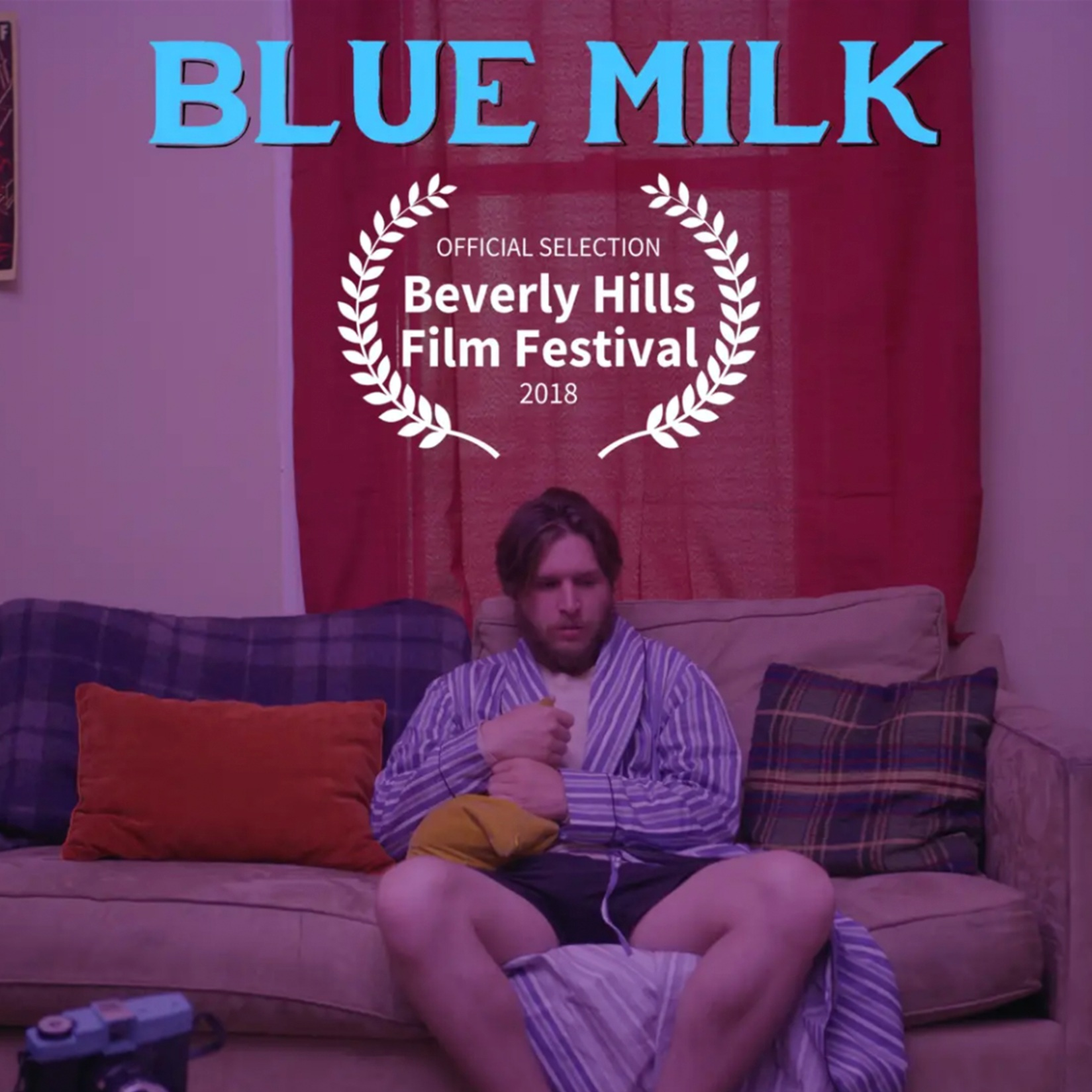 Blue Milk (2018) - Official Selection at the 2018 Beverly Hills Film Festival, 'Blue Milk' is the story of a man caught in the twisted reality of another timeline. Through the trials and tribulations of having to deal with romantic love, death, loneliness, and fight or flight syndrome, Man is left beguiled and puzzled as he opens his front door to the enlightenment of infinite possibility.Watch on Amazon Prime Video ➝