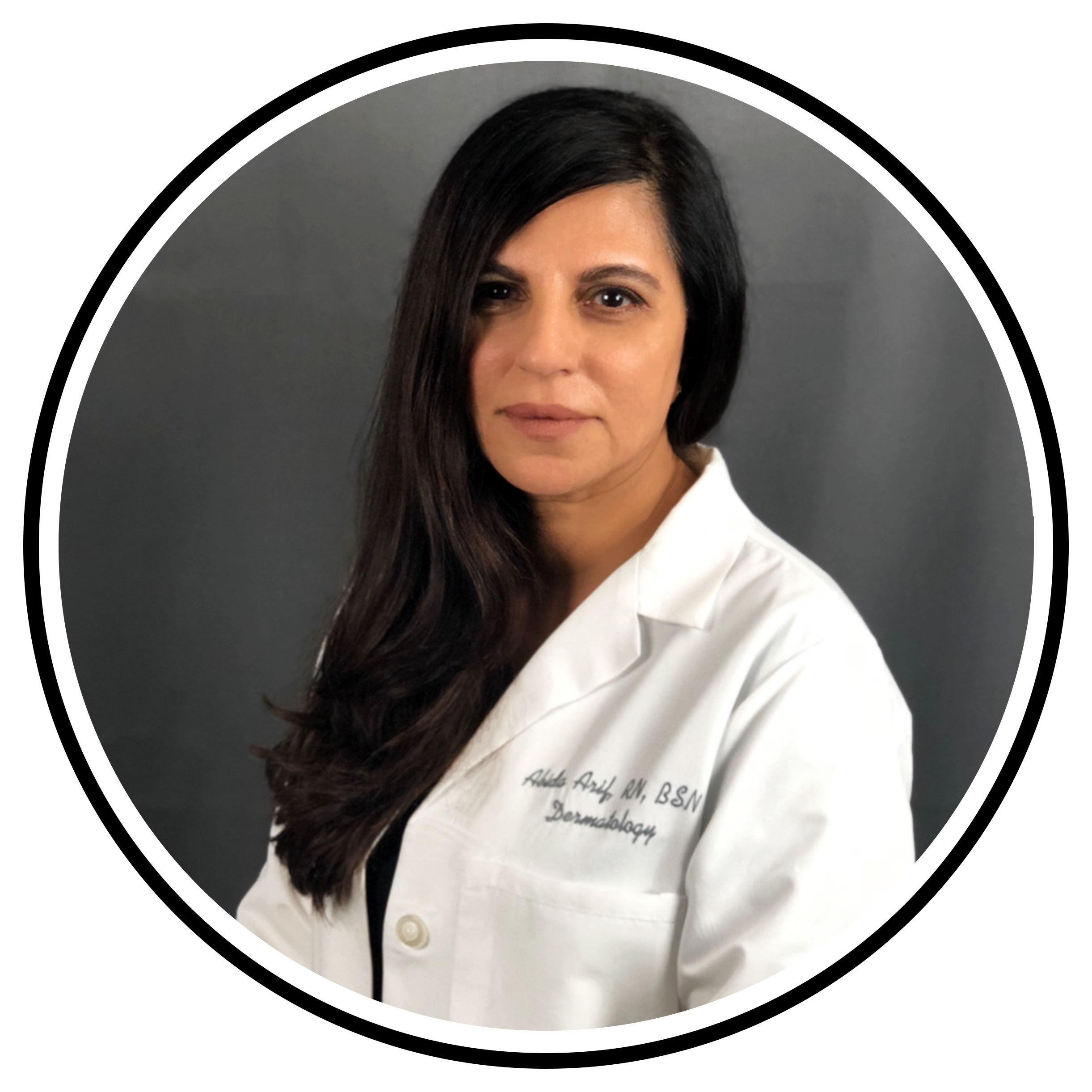 Abida, R.N. - Aesthetic NurseAbida Arif RN, BSN has been an Aesthetic Nurse at Encino Dermatology & Laser since 2005.She got her Bachelor of Science in Nursing from Middlesex University in London.She has 14 years of experience in treatment of patients including laser treatments, skin care, botox, cosmetic fillers, remedies for scarring, acne and aging skin.Abida has been working with Dr Alex Khadavi for 14 years. Her goal is to help people feel beautiful and refreshed. She's passionate about helping her clients to enhance and accentuate her patients natural beauty.She focuses on helping clients meet their goals by listening to their individual needs and then developing a tailored treatment plan.In her free time she enjoys time with her family ,loves to paint, listen to music and love watching movies.INSTAGRAM: @Abi.A0726