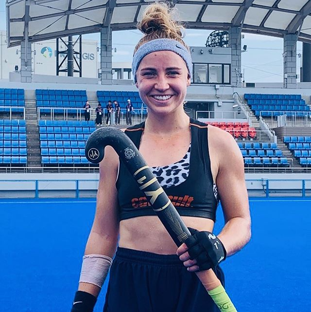 Activ8 Founder and Player #8, Georgia Wilson hard at training in a very hot and humid Japan. 🏑☀️  The Hockeyroos are one of only four countries to participate in the Olympic Test Event and trial the two newly laid turfs ahead of next year's Tokyo Olympics! 🇦🇺✨  Tickets are selling quickly for Activ8 Hockey's October School Holiday Camp so head to our page to register! 🎫