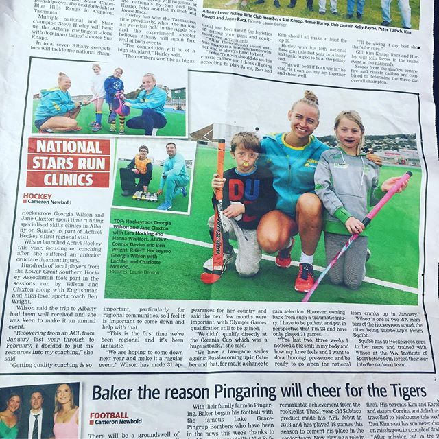 Thank you to @albanyadvertiser for the fantastic write up of last weekends event success!   It was the first time Activ8 Hockey ventured outside of Perth to visit and deliver a one day clinic to a very  impressive and talented group of regional athletes!