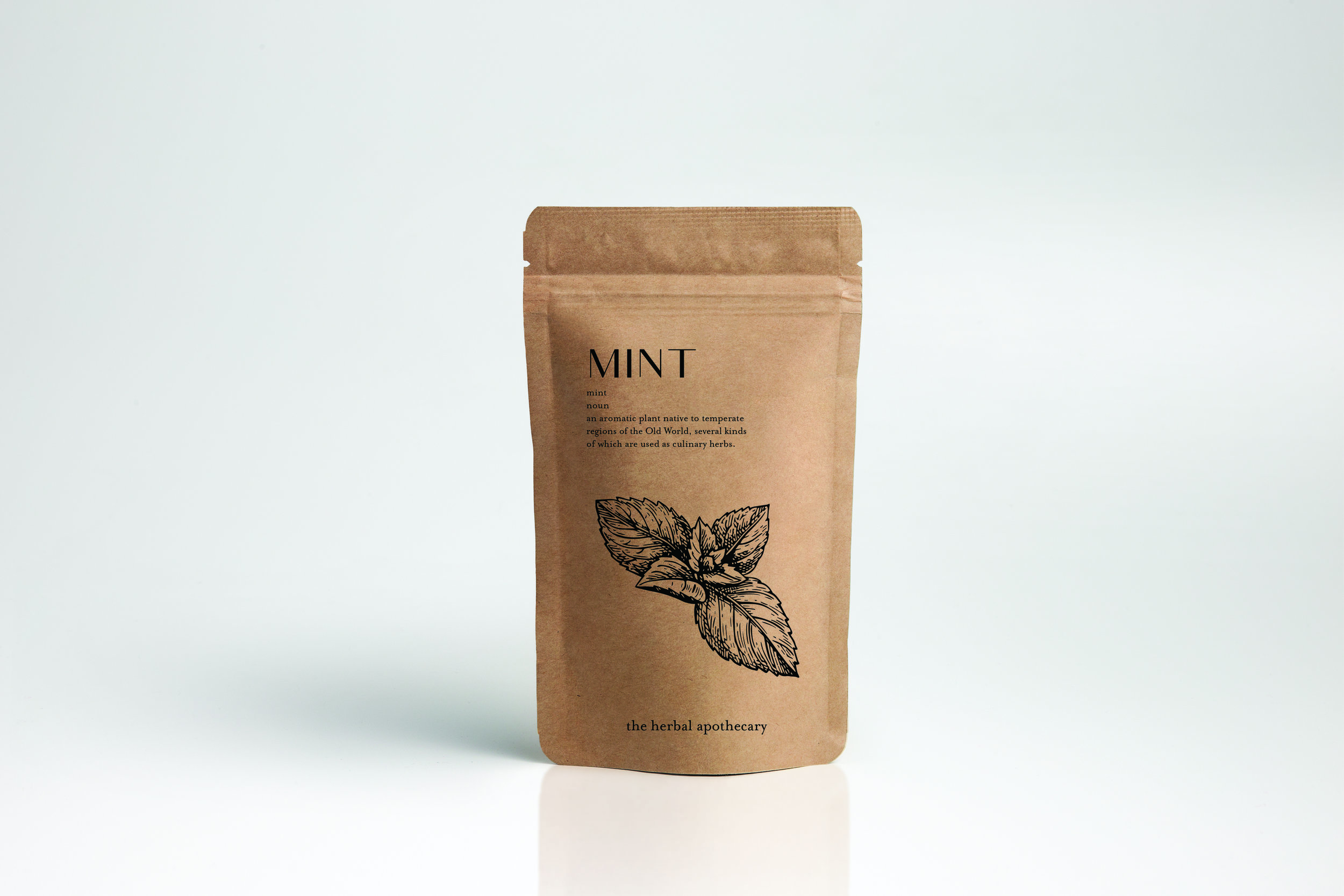 Mint pre-packaged herb pouch