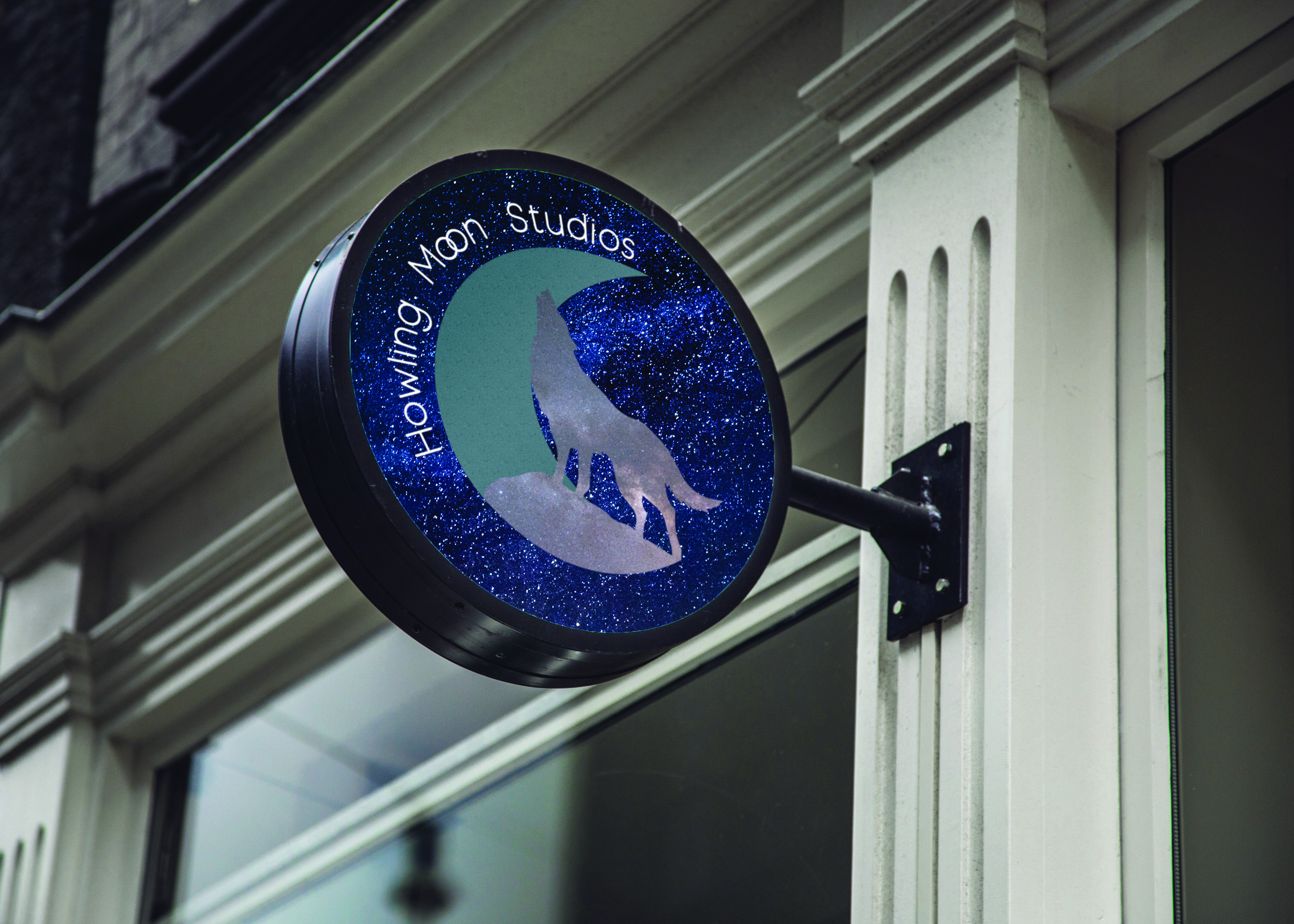 Howling Moon Studios Sign