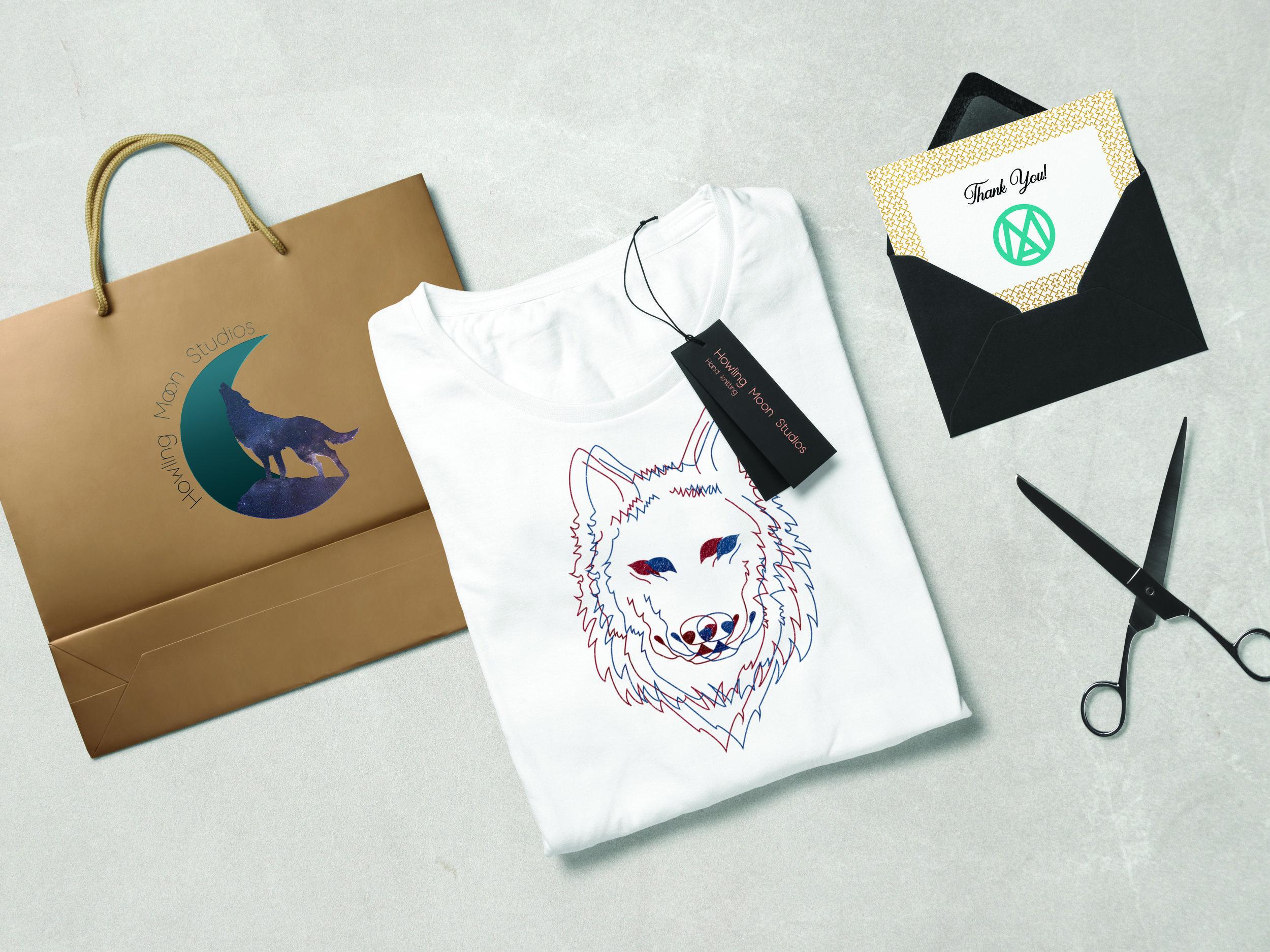 Howling Moon Studios Shirt and Bag Design