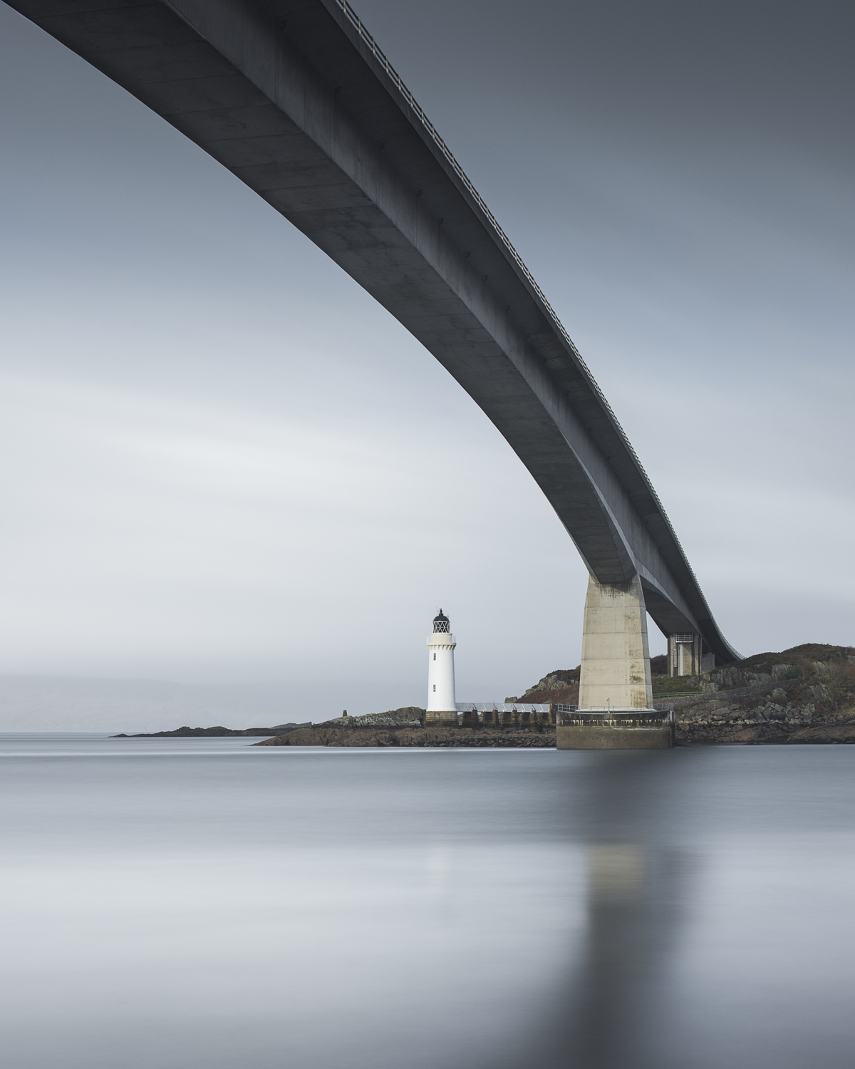 Skye Bridge, 0.6 soft ND Grad and Pro Glass 15 stop filters. Processed in Lightroom and Photoshop.