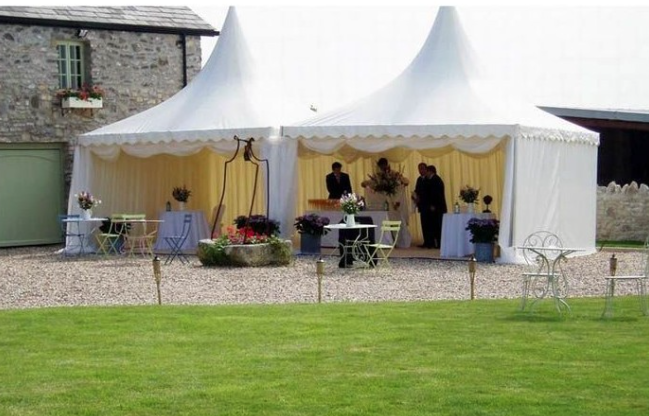 Pagodas are the perfect addition as smaller event spaces and Garden Parties