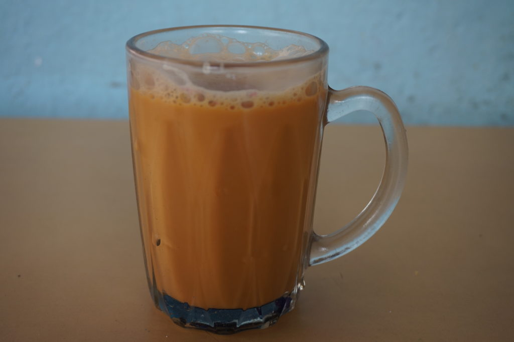 A hot cup of Teh Tarik as tried on our Singapore food tours.