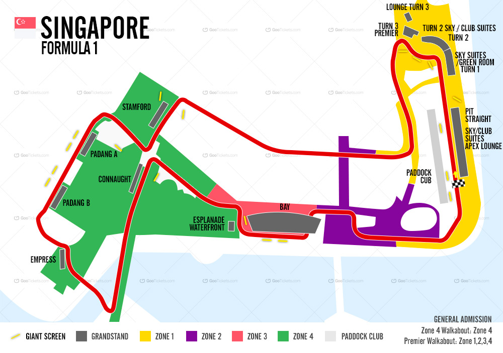Follow the action of the Singapore F1 on your tours in Singapore