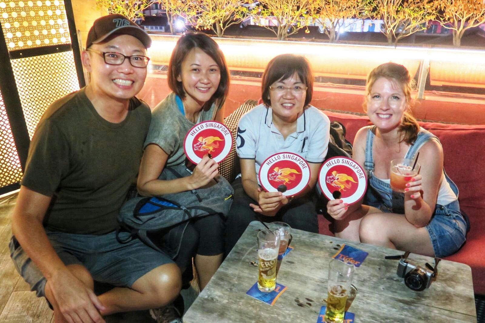 night tour in Singapore with hawker centre tour