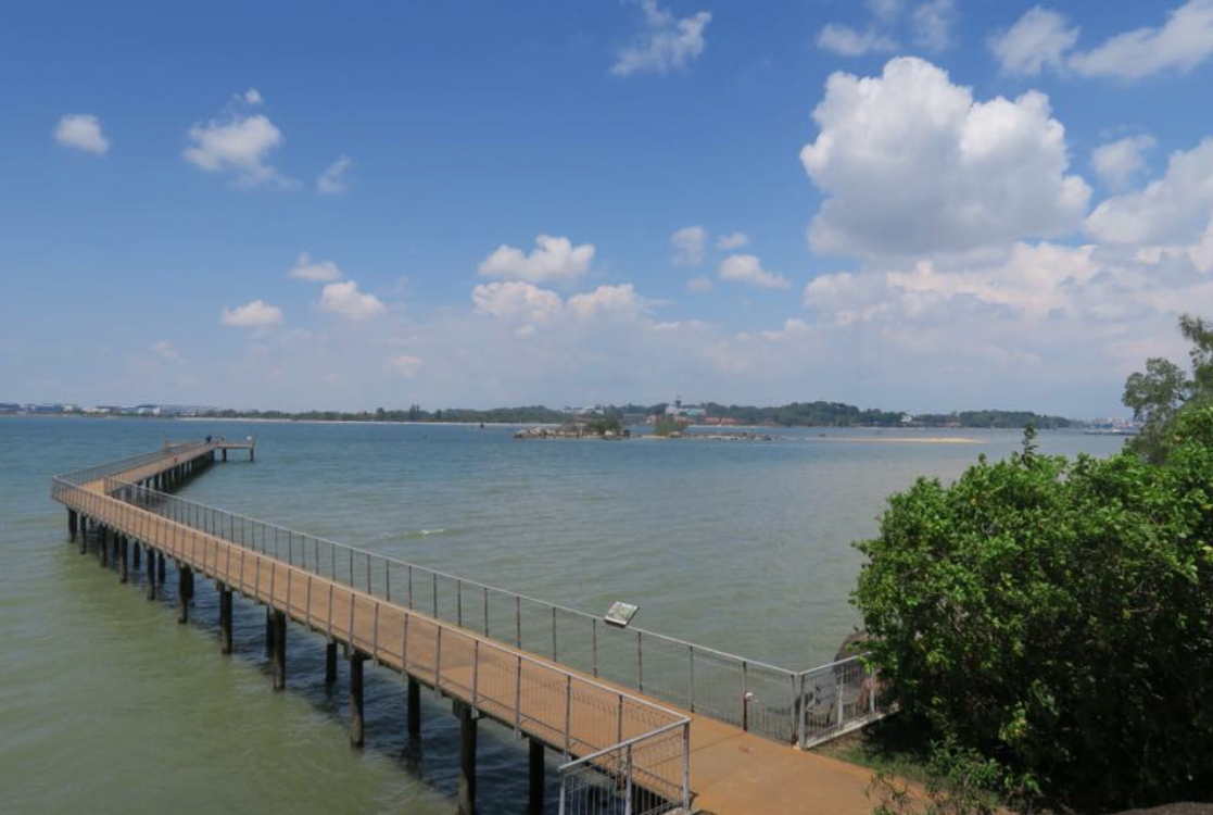 Take a stroll from the pier in pulau ubin
