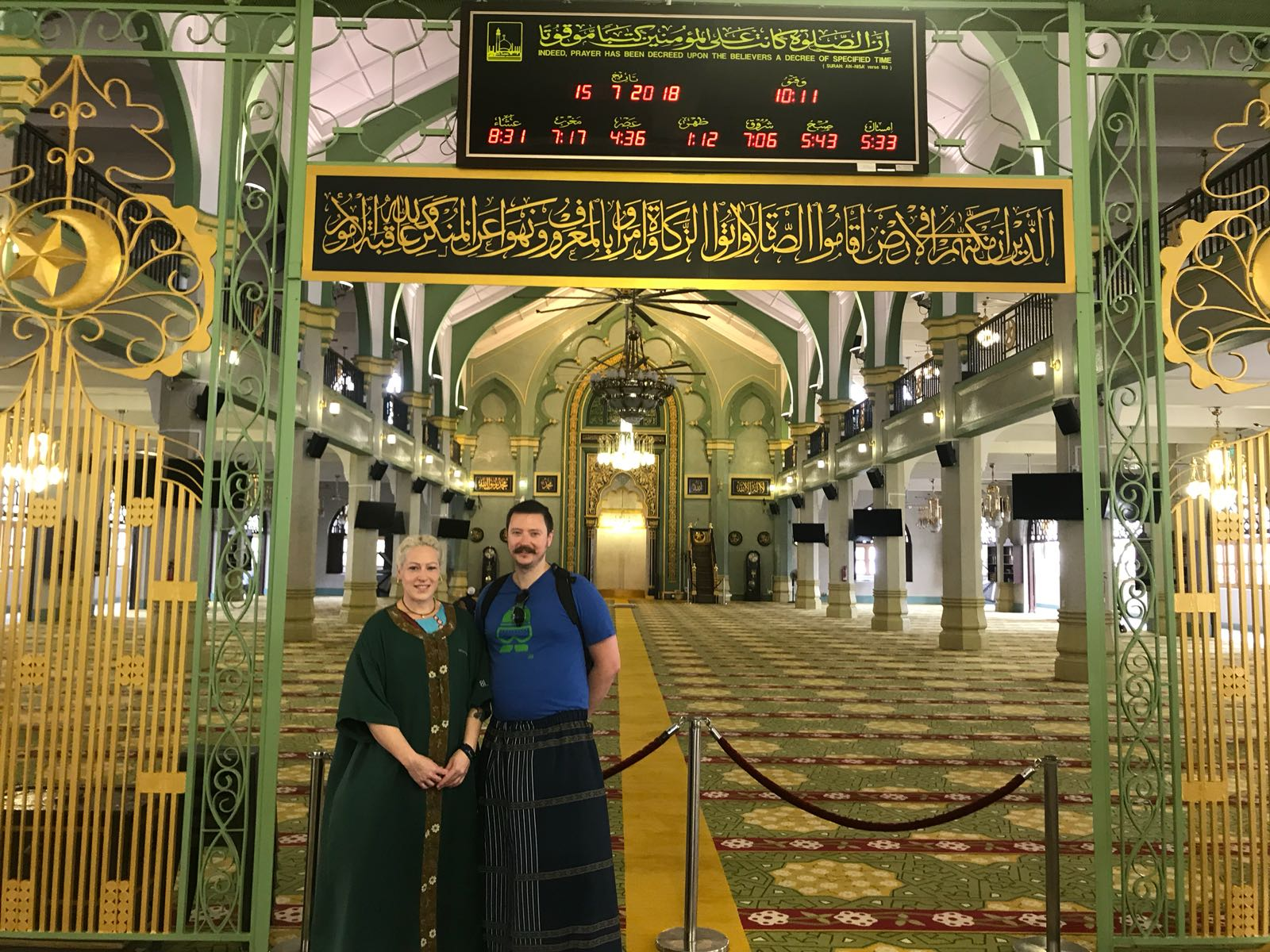 Our guests went inside Sultan Mosque with their singapore tour guide