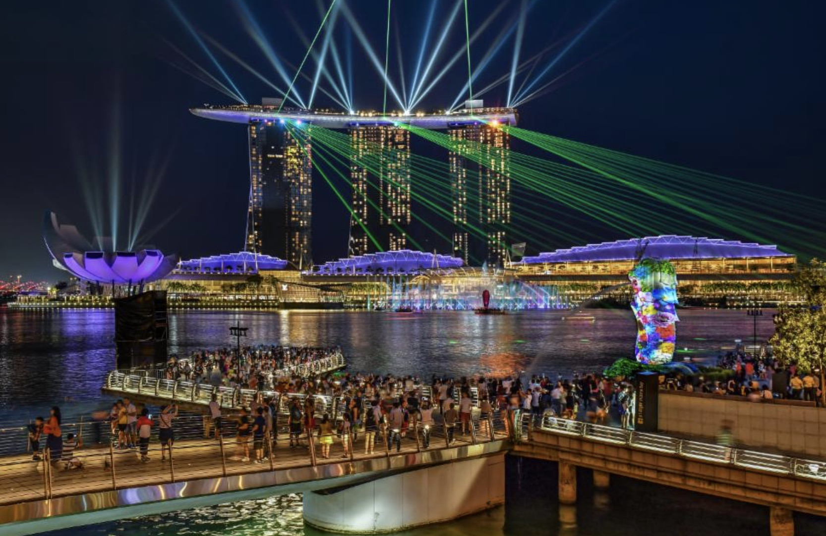 visit spectra show after your singapore night tours
