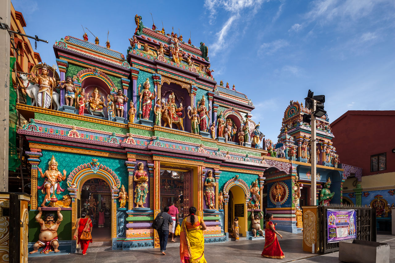 Visit temples in Little India on a private Singapore city tour