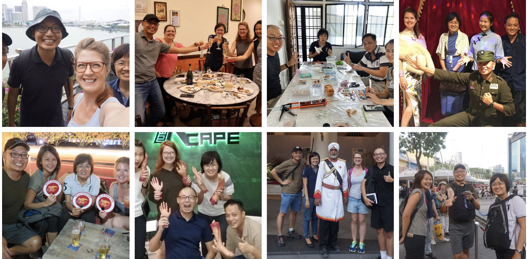 Your Hello! Singapore Team in team outings to try new routes for private tours Singapore