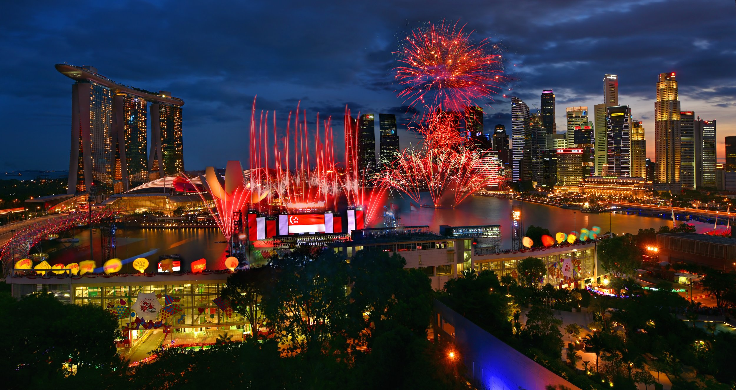 The fireworks on Singapore's National Day!
