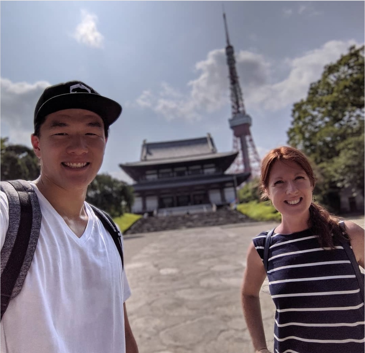 Hello! Tours founder Laura and our new team member Sidney preparing Hello! Tokyo.