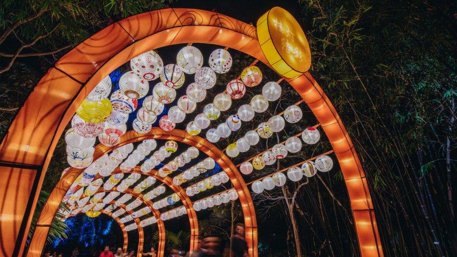 Lantern decorations for Singapore activities