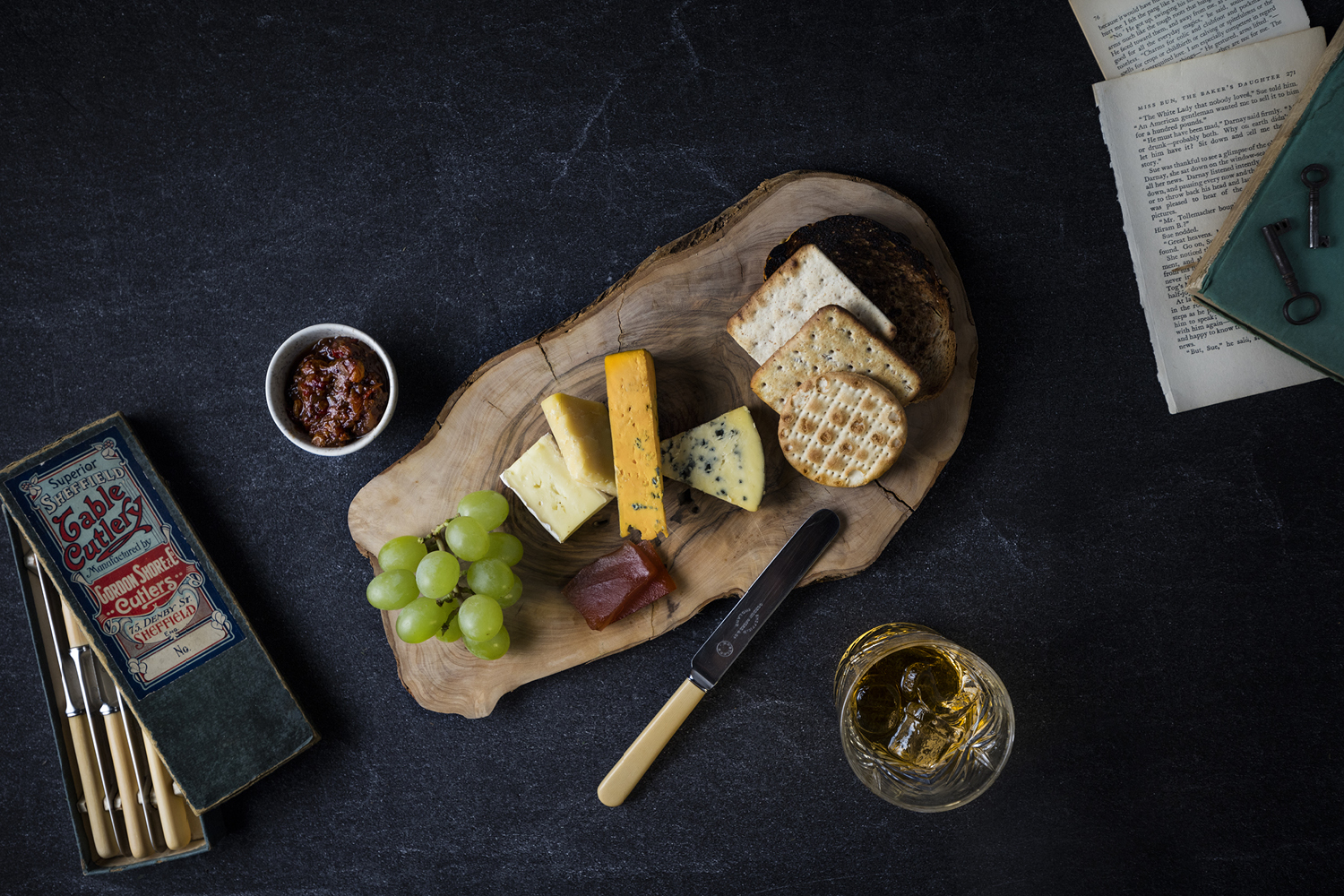 The Grahamston I Hand picked Cheese selection served with artisan bread & crisp bread, celery & quince.