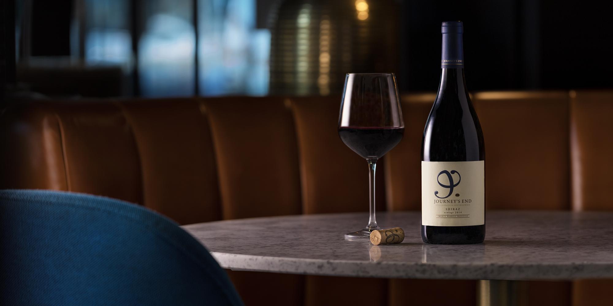 The Grahamston Bar I Journey's End Shiraz red wine