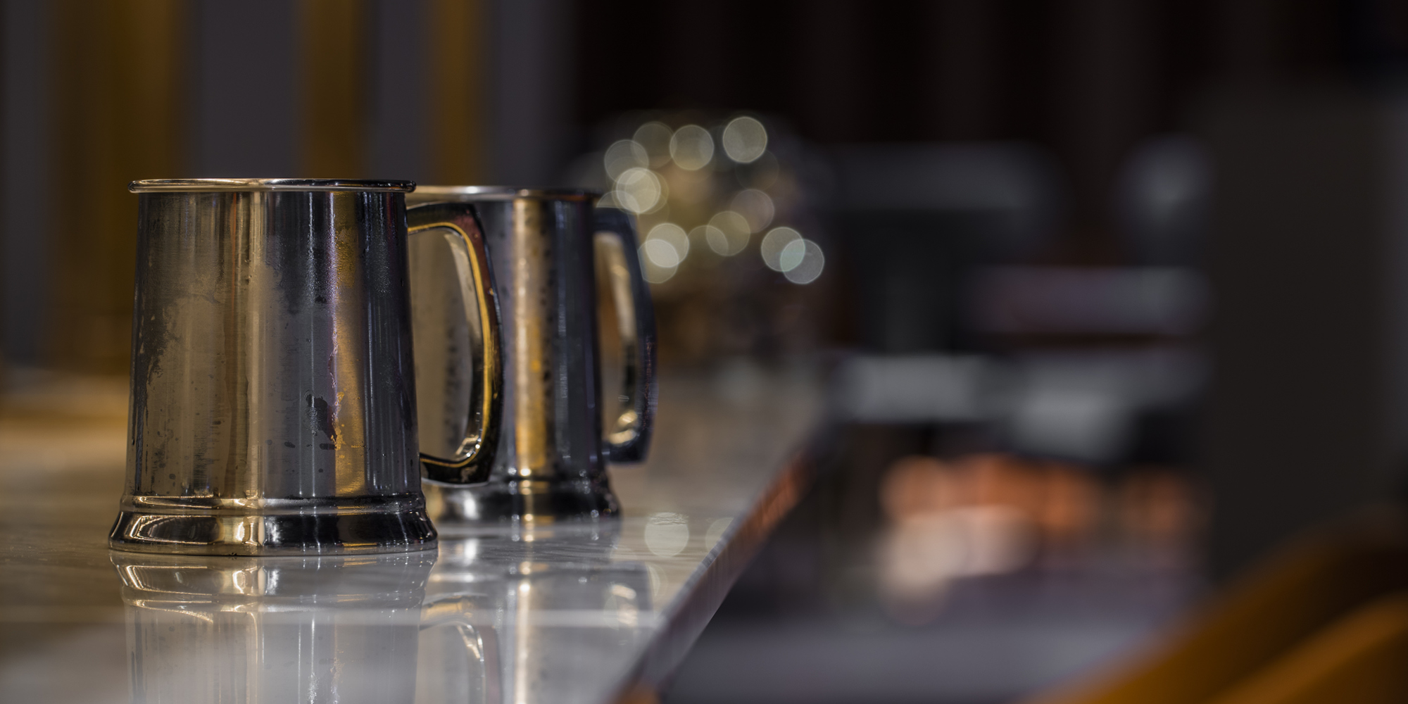 The Grahamston Bar I Grahamston Ale served inside a silver tankard
