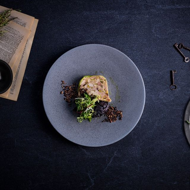 "Indulge in our traditional ""Cock a Leekie"" terrine served with whisky soaked prunes & puffed wild rice. • • • #grahamstonkitchen #glasgowfood #eatfamous #eatingforthegram #foodstagram #foodie #foodgawker #forkyeah #biteintothis"