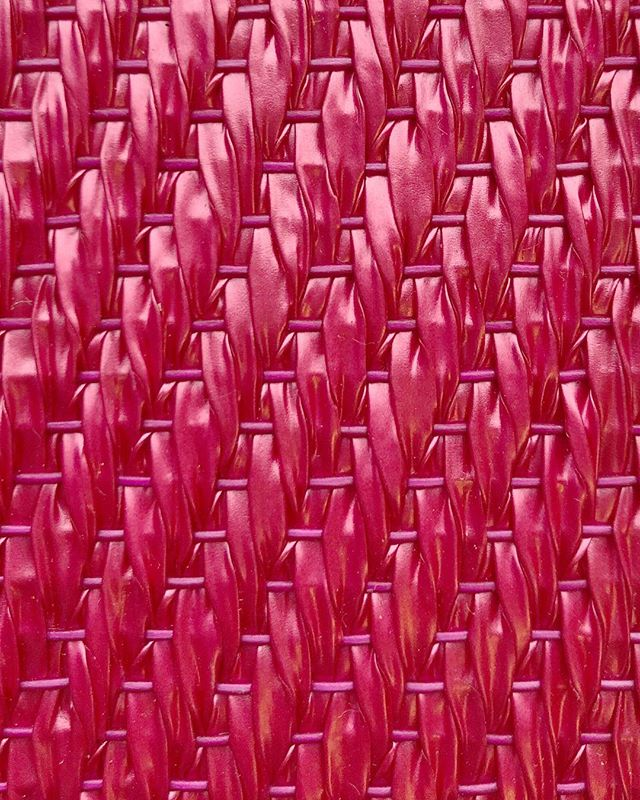 A Study of Pink.  Bolon - Now - Carnation.  Woven vinyl flooring made from recycled materials • • • • • • • #design #interiordesign #setdesign #architecture #colourscheme #pink #materiallibrary #materialboard