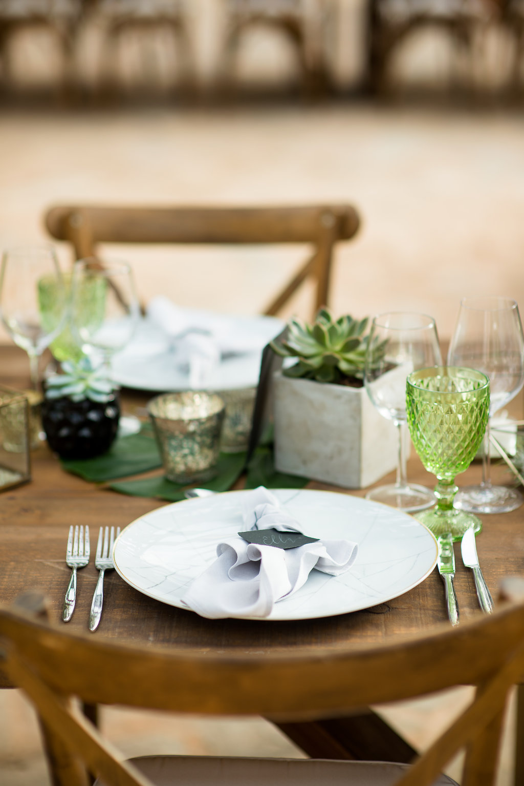 table setting, ibiza events