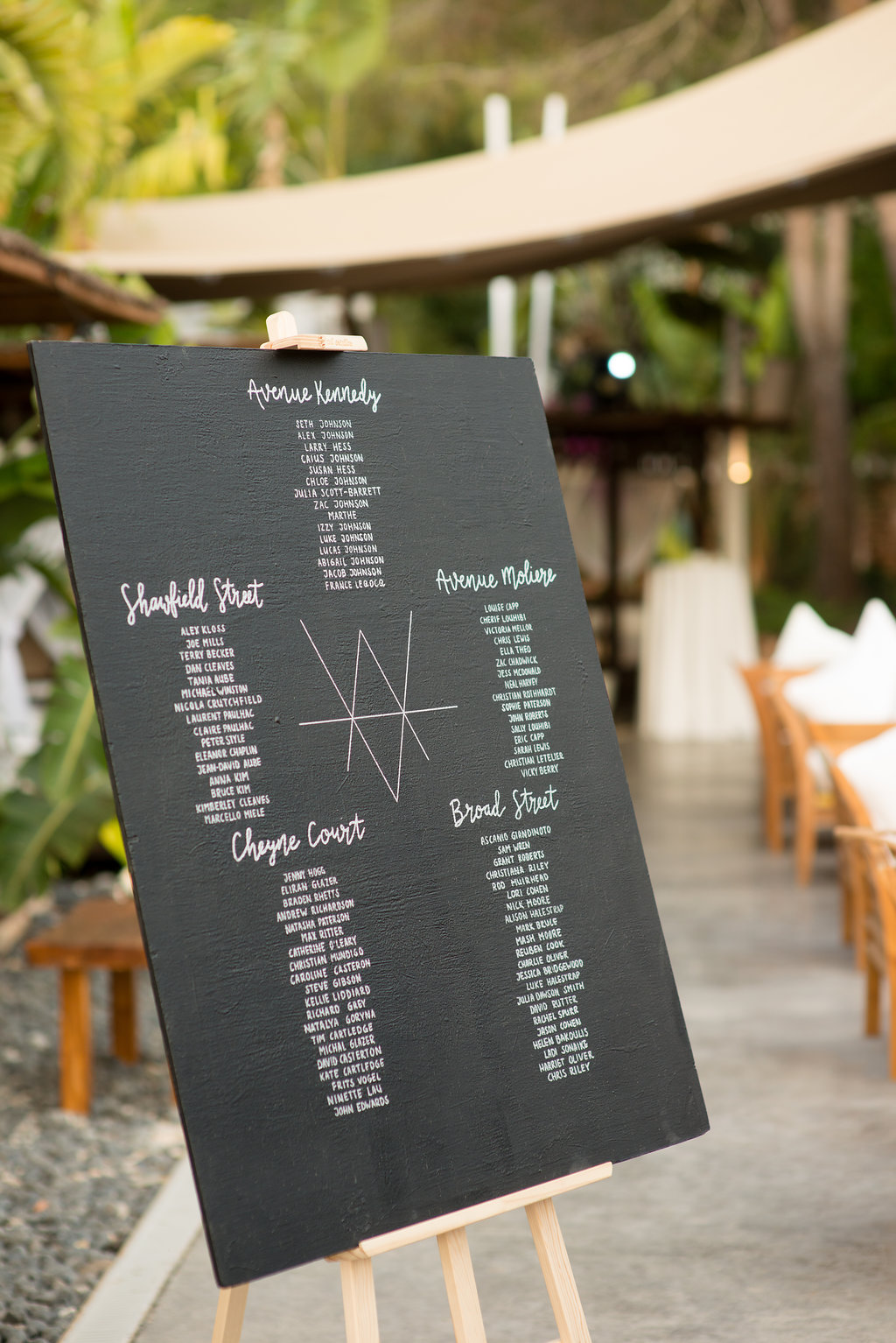 Table plan Ibiza events, obi and the island