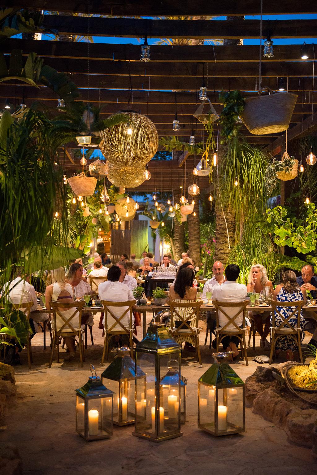 Al fresco dining Ibiza, ibiza events, obi and the island