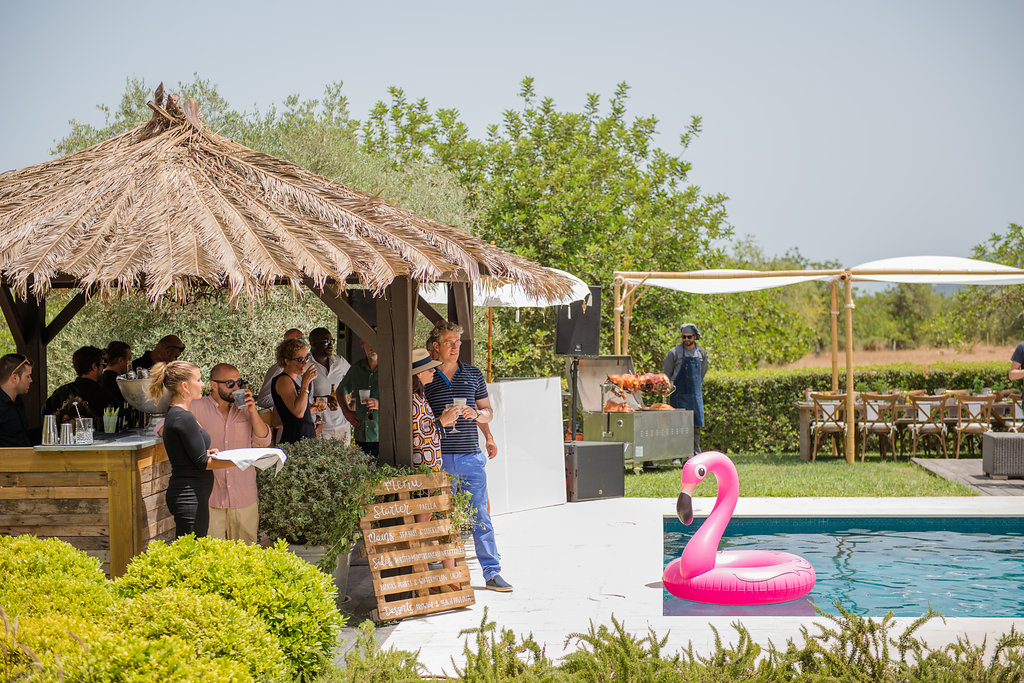 ibiza pool party, ibiza events planner, obi and the island