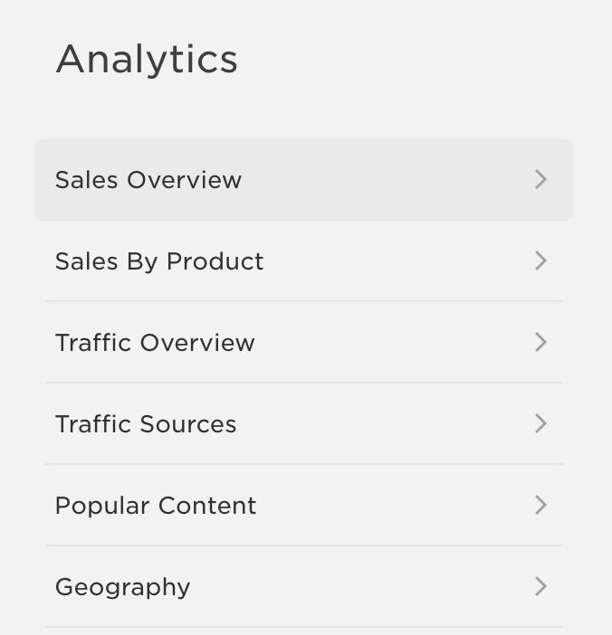 Squarespace analytics