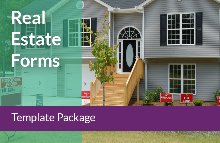 Real Estate Forms Template
