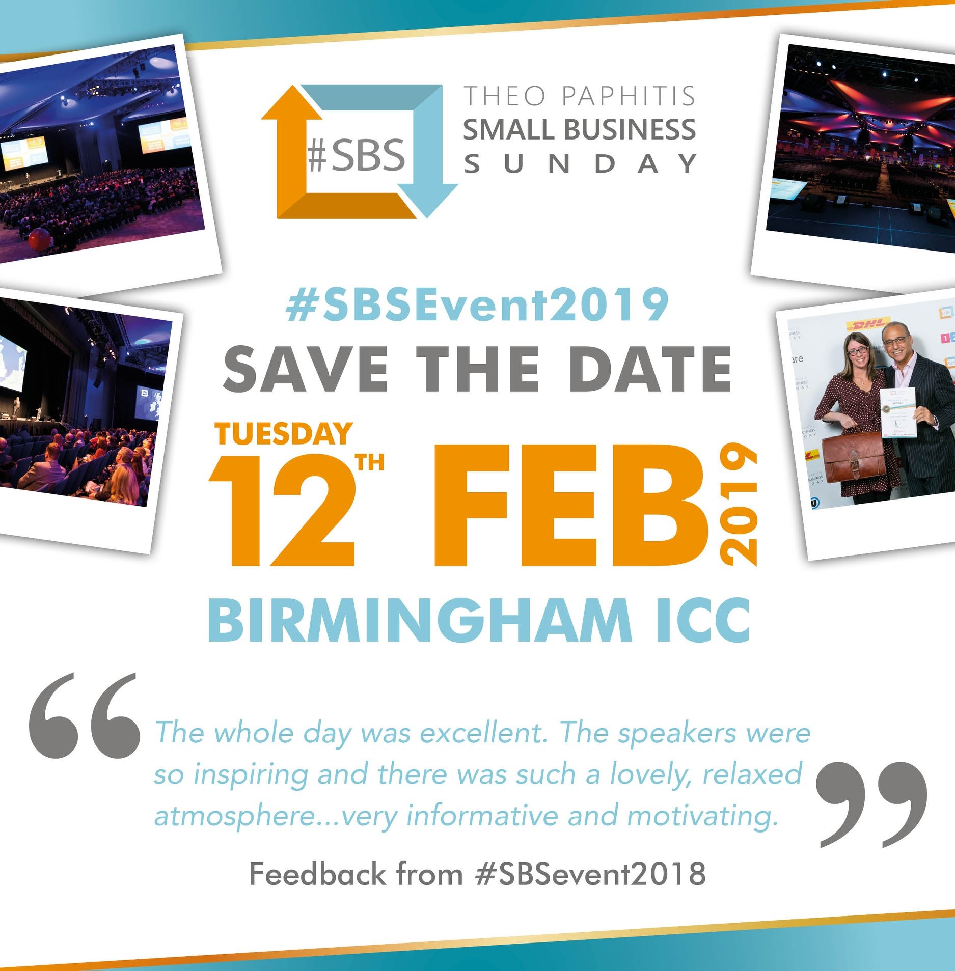 THEO PAPHITIS 2019 SMALL BUSINESS SUNDAY EVENT - Tuesday 12th February 2019(#SBS Winners only)More Details