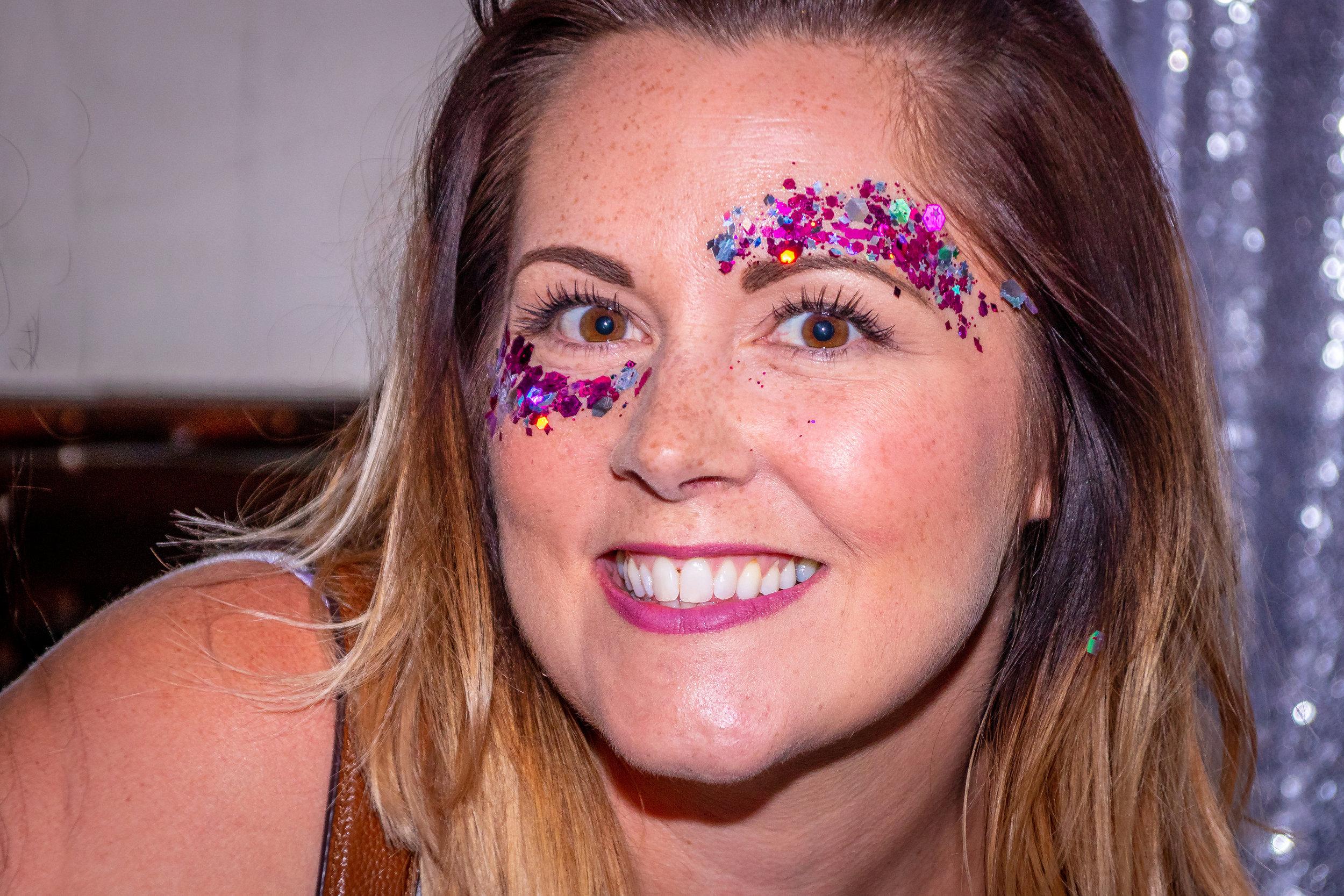 Glitter Makeup - Corporate Event