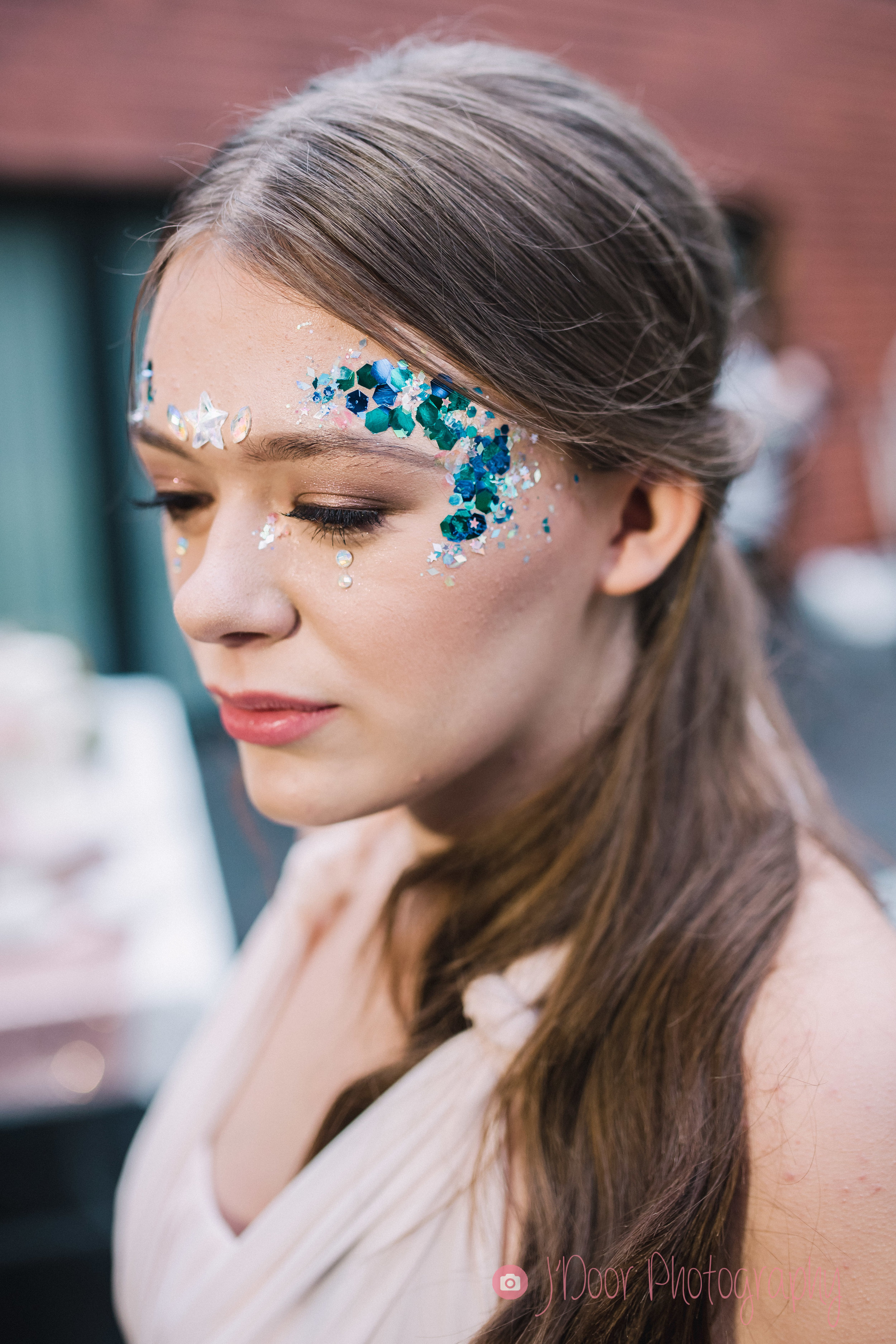 Makeup & Glitter Makeup by Toni Cassidy - Glamavan, Hair by Emma J Hair Styling, Model Billie.