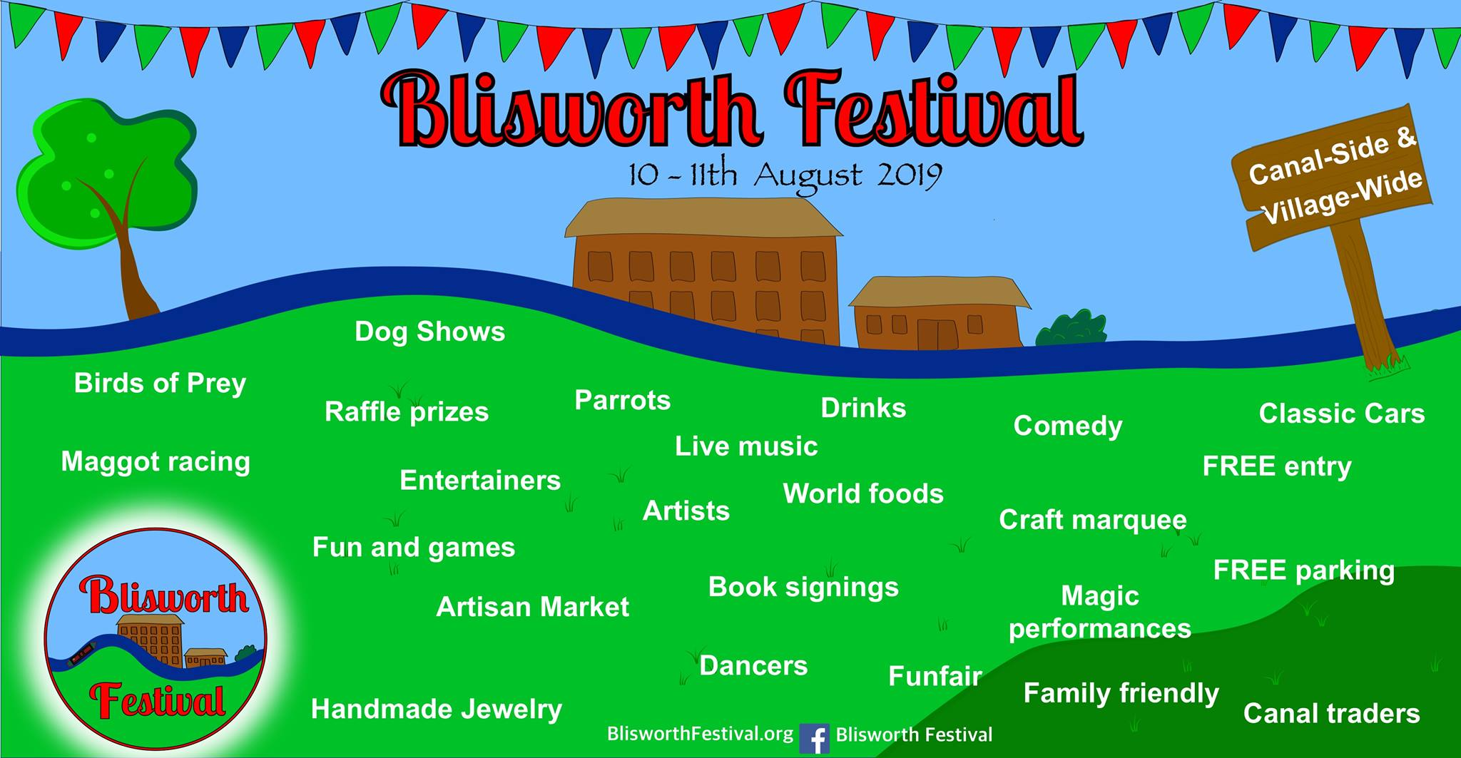 BLISWORTH FESTIVAL 2019 - Saturday & Sunday, 10th and 11th August 2019Time: 11am - 5pmVenue: Blisworth, Northamptonshire