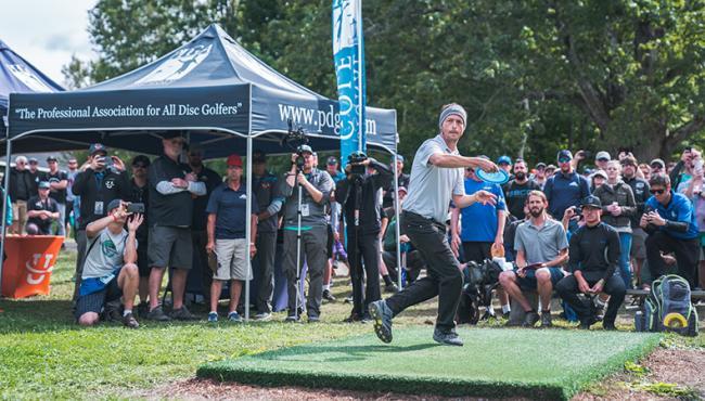 2018 PDGA Professional Disc Golf World Champion Gregg Barsby. Photo:    Alyssa Van Lanen