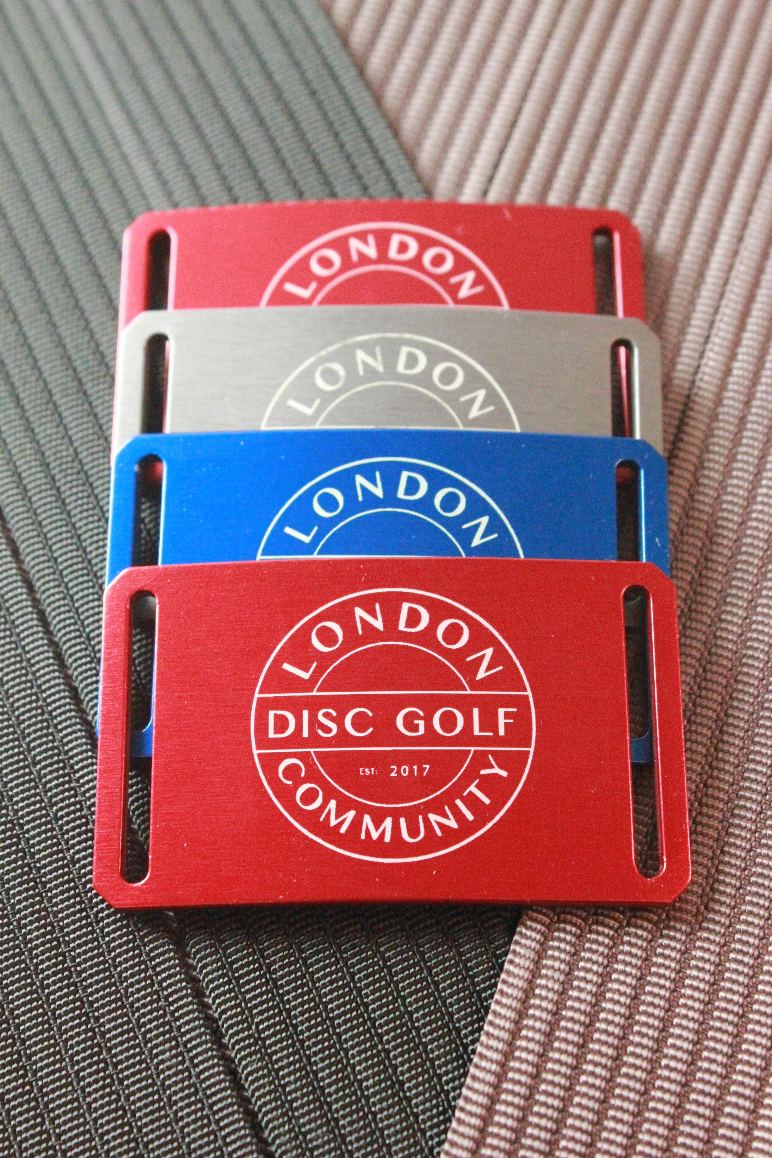 Limited Custom Grip6 Belts - London Disc Golf Community Design - £30